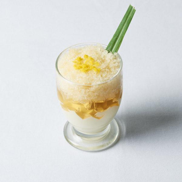 ラベンダームースとレモングラスのグラニテ